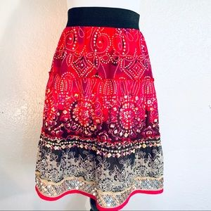 Roz & Ali Bohemian Tiered Skirt Sequence Detail